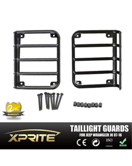Xtreme 2007 - 2015 Jeep Wrangler JK Unlimited Black Light Guard For Rear Taillights ( Tail Light ) Cover - Pair