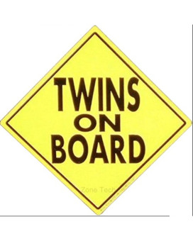 Zone Tech Twins On Board MAGNET - safe caution safety sign children magnetic