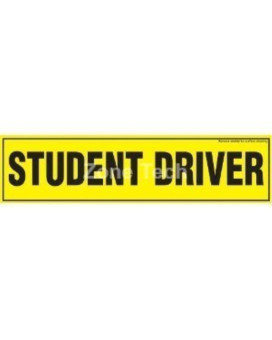 Zone Tech Magnetic 'Student Driver' Bumper Sticker, 12 X 3 X 0.1 Inches