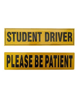Zone Tech STUDENT DRIVER And PLEASE BE PATIENT Magnet REFLECTIVE Magnetic Vehicle Car Sign