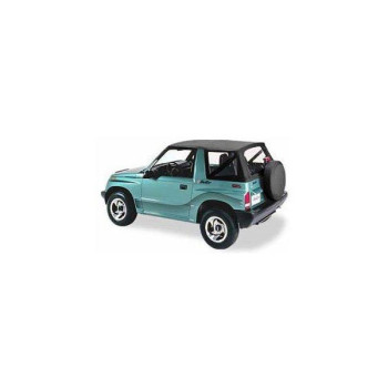 Bestop 51362-15 Black Denim Replace-a-Top(TM) Soft Top Clear Windows - No door skins included - No frame hardware included- 1988-1994 Suzuki Sidekick