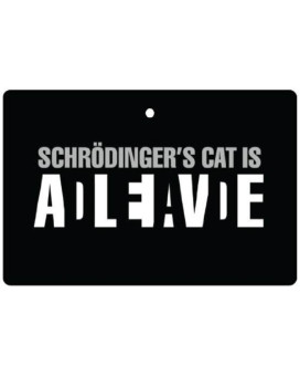 Schrdingers Cat Car Air Freshener