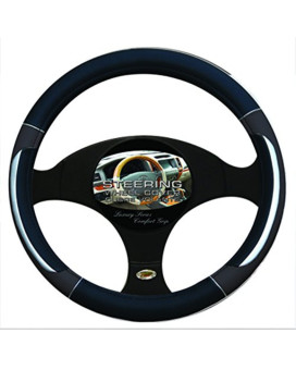 Steering Wheel Covers In Black/Silver/Grey