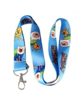 Adventure Time Lanyard Keychain Holder - Blue with Jake and Finn