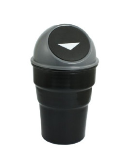 Plastic Trash Rubbish Can Garbage Dust Holder Gray
