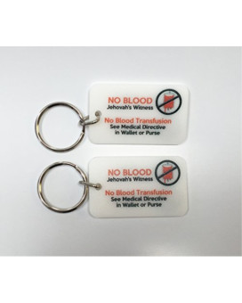 Jehovah's Witness No Blood Transfusion Key Chain Quanity 2 by Atomic Market