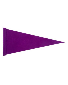 """ATV Solid Purple Pennant 8"""" X 18"""" Safety Flag with 1/4"""" White Pole (no mounting hardware)"""