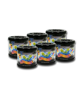 Pack of 6 TreeFrog Gel-Typed Automotive Cup-Holder Air Freshener (Squash Scented)