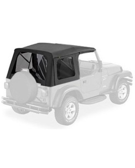 Bestop 58709-15 Black Diamond Tinted Window Kit for Bestop Supertop, 97-06 Wrangler (except Unlimited)
