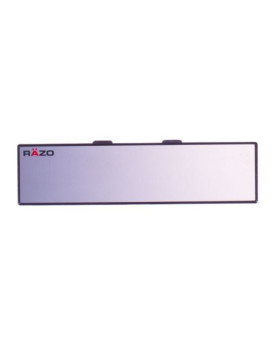 "Razo RG20 10.6"" Black Frame Wide Angle Flat Rear View Mirror - Pack of 1"