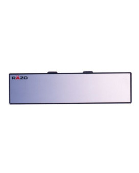 "Razo RG22 11.8"" Black Frame Wide Angle Flat Rear View Mirror - Pack of 1"