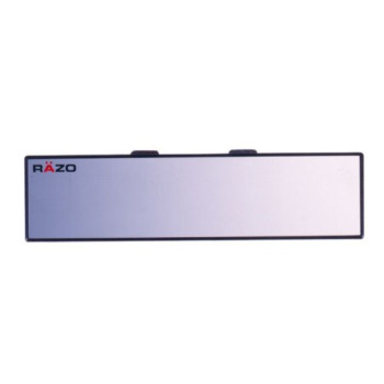 """Razo RG22 11.8"""" Black Frame Wide Angle Flat Rear View Mirror - Pack of 1"""