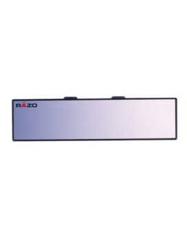 "Razo RG23 11.8"" Black Frame Wide Angle Convex Rear View Mirror - Pack of 1"