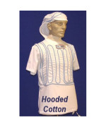 Cool Shirt CWH-M White Medium Cool Water Hooded Shirt