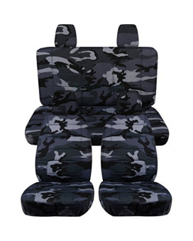 Jeep Wrangler JK (2011 to 2015) Camo Seat Covers: Gray - Full Set (16 Prints Available)