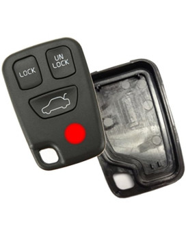 Discount Keyless Replacement 4 Button Case and Button Pad Compatible with Volvo Remotes HYQ1512J