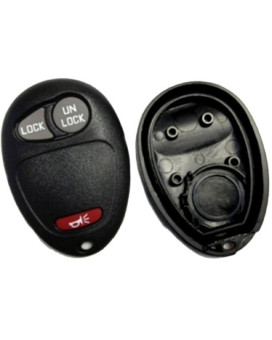 Discount Keyless Replacement 3 Button Case and Button Pad Compatible with GM and Isuzu Remotes L2C0007T