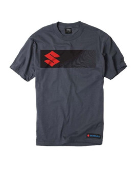 Factory Effex Suzuki 'S' Bar T-Shirt (Charcoal, X-Large)