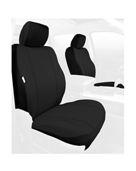 Fia SP88-24 BLACK Custom Fit Front Seat Cover Bucket Seats - Poly-Cotton, (Black)