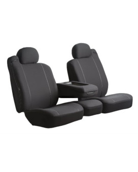 Fia SP87-10 BLACK Custom Fit Front Seat Cover Split Seat 40/20/40 - Poly-Cotton, (Black)