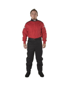 G-Force 4125LRGRD GF 125 Red Large Single Layer Racing Suit