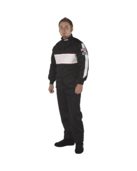 G-Force 4385XLGBK GF 505 Black X-Large Triple Layer Racing Jacket