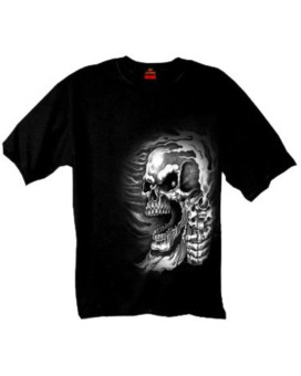 Hot Leathers Assassin Double Sided T-Shirt  (GMD1076, Black, Large)
