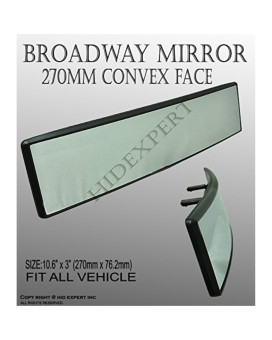 JDM Broadway BW-745 270mm Convex Rearview Mirror white tint high quality #1COOL