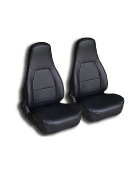 Mazda Miata Black Artificial leather Custom fit Front seat cover