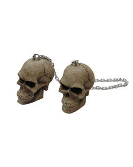 Skull Mirror Danglers Chains Awesome Race Accessory Zombie