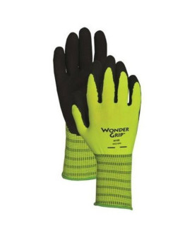 Wonder Grip 310 High-Visibility Rubber Gloves, Large