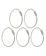 5pcs Key Ring Keychain Aircraft Cable Wire Stainless Steel Gear