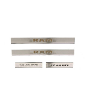 Genuine Dodge RAM Accessories 82212428AB Stainless Steel Door Sill Guard with RAM's Head Logo