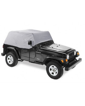 Pavement Ends by Bestop 41728-09 Charcoal Canopy Cover for 92-95 Wrangler YJ