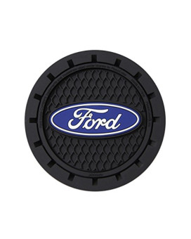 Plasticolor 000651R01 Ford Oval Cup Holder Coaster