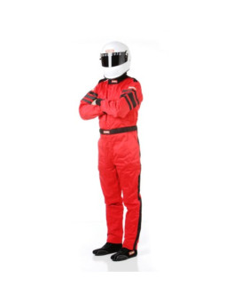 RaceQuip 120013 120 Series Medium Red SFI 3.2A/1 Multi-Layer One-Piece Driving Suit