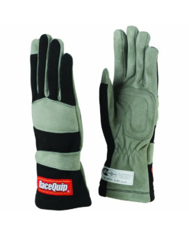 RaceQuip 351006 351 Series X-Large Black SFI 3.3/1 One Layer Racing Gloves
