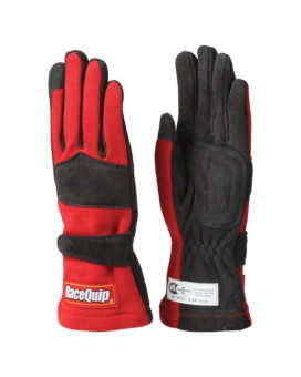 RaceQuip 355012 355 Series Small Red SFI 3.3/5 Two Layer Racing Gloves