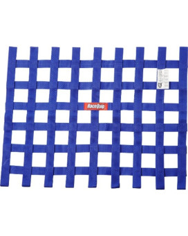 "RaceQuip 725025 18"" High X 24"" Wide Blue SFI 27.1 Ribbon Style Window Net"