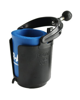 Ram Mounts RAM-B-132BU Ram Self-leveling Cup Holder With 1in Ball & Cozy