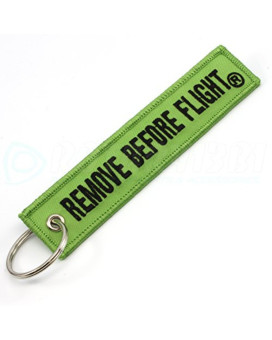Rotary13B1 - Remove Before Flight Keychain - Lime Green