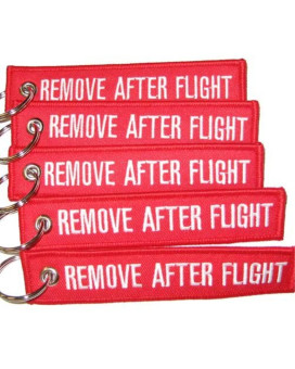 Rotary13B1 Remove After Flight Keychain - Red - 5pcs