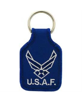 US Air Force New Logo Embroidered Keychain Military Commemorative Collectibles, Patriotic Gifts for Men, Women, Teens, Veterans Great Gift Idea for Wife, Husband, Relative, Boyfriend, Girlfriend, Grandparent, Fiance or Friend. Perfect Christmas Stocking S