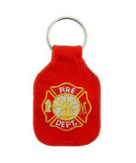 Embroidered Key Chain - Fire Department