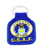 US Air Force Keychain United States Air Force Embroidered Key Chains Military Products Patriotic Gifts for Men Women Teens Christmas Holidays Birthdays Veterans Day