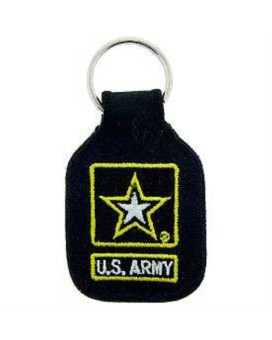 US Army Logo Keychain United States Army Star Embroidered Key Chains Military Products Patriotic Gifts for Men Women Teens Christmas Holidays Birthdays Veterans Day