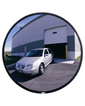 "See All PLXO26SSB Circular Acrylic Outdoor Convex Security Mirror with Stainless Steel Back, 26"" Diameter (Pack of 1)"