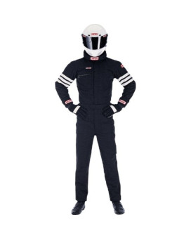 Simpson Racing 0402312 Gabardine Black Large Nomex 2-Layer Driving Jacket