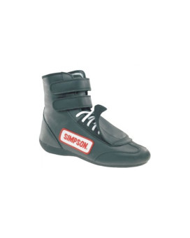 Simpson Racing SP105BK Black Sprint Size 10-1/2 SFI Approved Driving Shoes