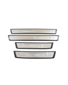 Genuine Toyota Accessories PT922-03120 Stainless Steel/Plastic Front and Rear Door Sill Enhancement - 4 Piece